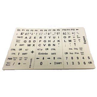 Autocollants clavier contrastés pour les personnes malvoyantes