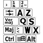 Autocollants agrandis et contrastés pour clavier